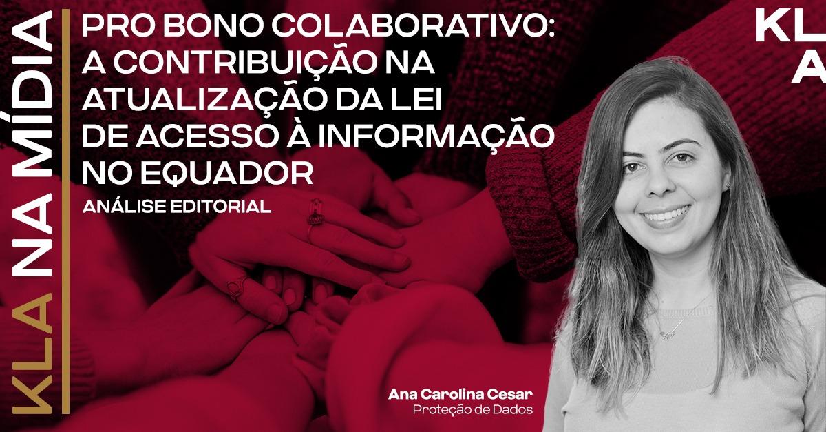 Ana Carolina Cesar tem artigo sobre pro bono colaborativo publicado no Análise Editorial